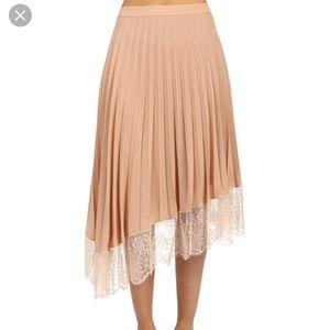 A.L.C. Claude Pleated Lace Skirt Blush Sz 2